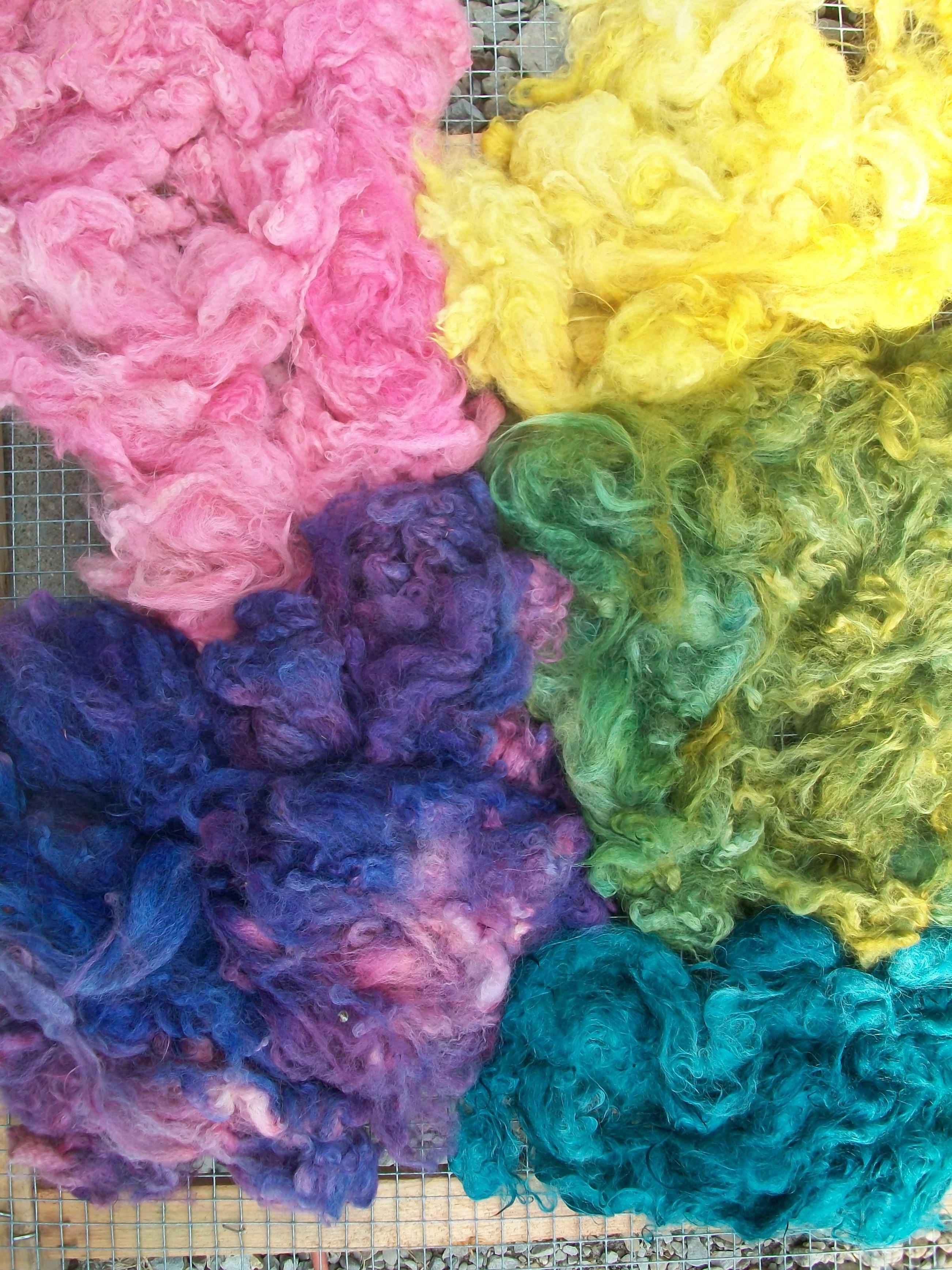 Solar dyeing fiber, Fiberartsy.com