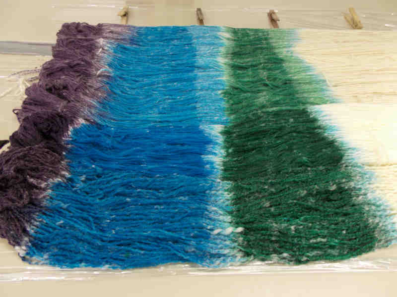 How to hand paint yarn, Kentucky Blue Fiber Co.