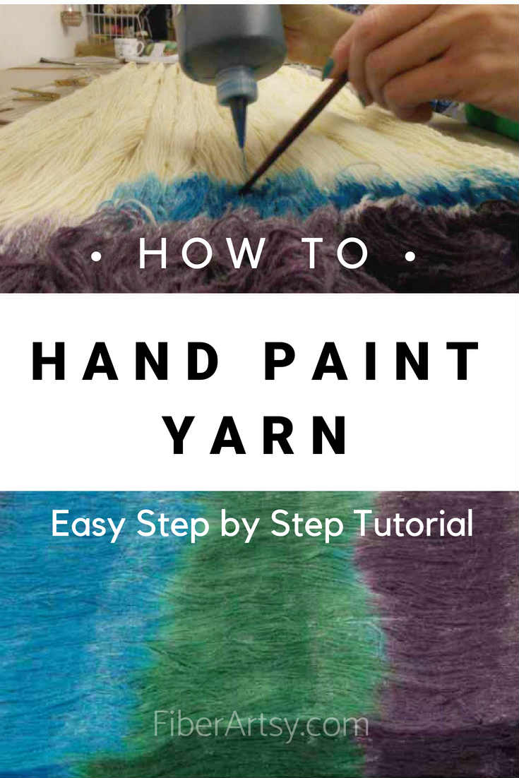 Learn how to hand paint yarn. A free step by step yarn dyeing tutorial