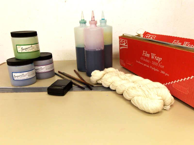 Supplies for Hand Dyeing Yarn