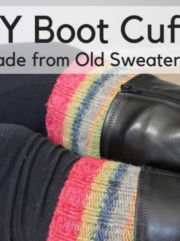 How to Make Boot Toppers from Old Sweaters