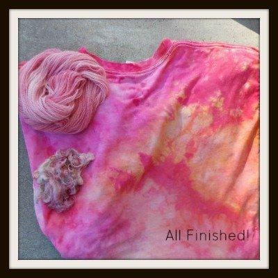 Dyeing Fiber with Snow, Fiberartsy.com