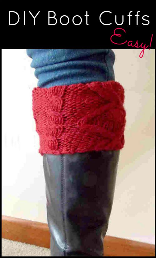 DIY Boot Cuffs from Old Sweaters, a FiberArtsy Tutorial