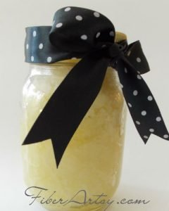 DIY Own Lemon Sugar Hand Scrub recipe, Fiberartsy.com