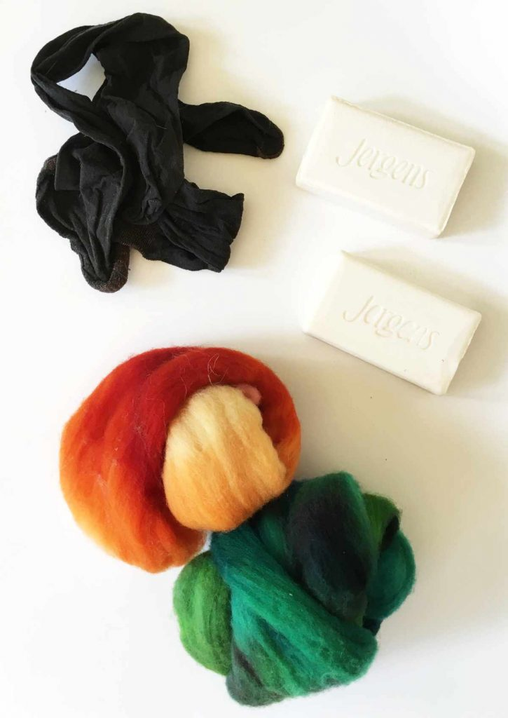 Supplies for soap felting