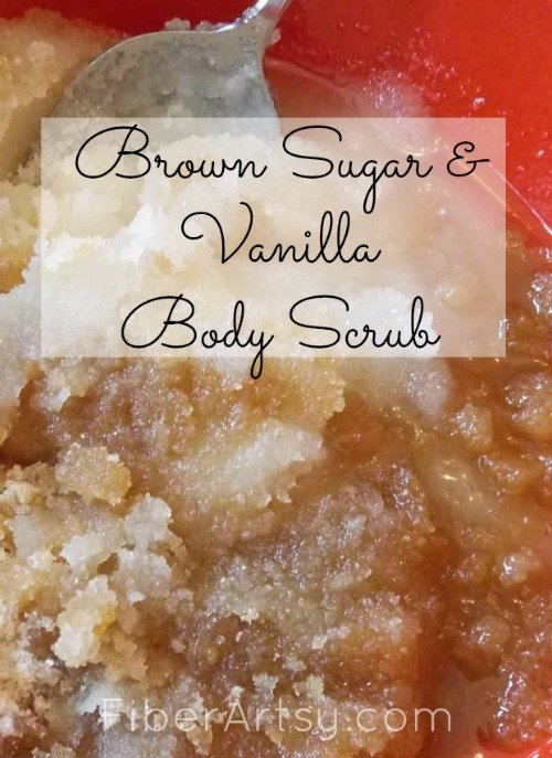 Brown Sugar Vanilla Body Scrub, Fiberartsy.com