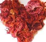 Dyed Wool Locks, FiberArtsy.com