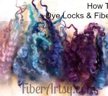 How to Dye Wool Locks and Fiber, Fiberartsy.com