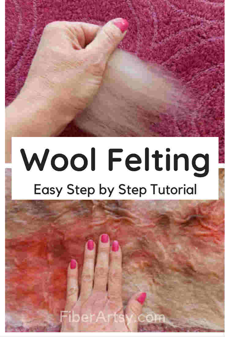 Wet Felting Basics, Learn how to wet felt wool roving