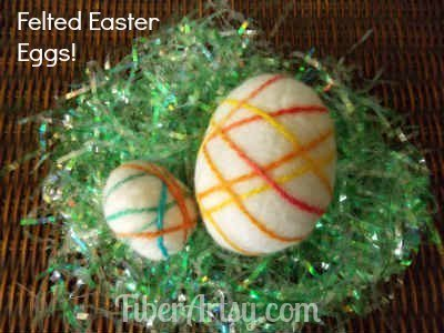 Felted Easter Eggs - Fiberartsy.com