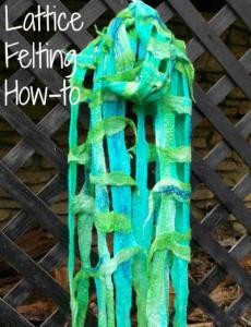 Wool Felting – How to make Lattice Felt