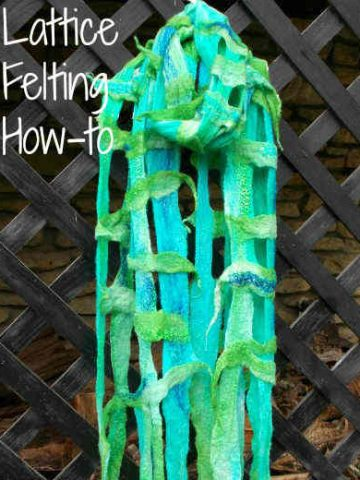 Lattice Felting How-to, Fiberartsy.com