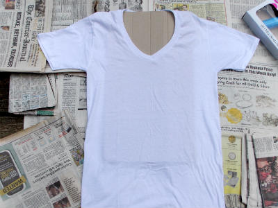 How to Paint a Tiger Striped T-shirt, Fiberartsy.com