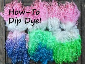 Dip Dyeing Wool Locks – Dyeing Series Part 2