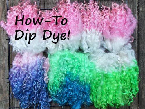 How to dip dye wool locks, Fiberartsy.com