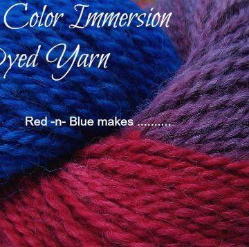 Multi Color Dyed Yarn Tutorial, Fiberartsy.com