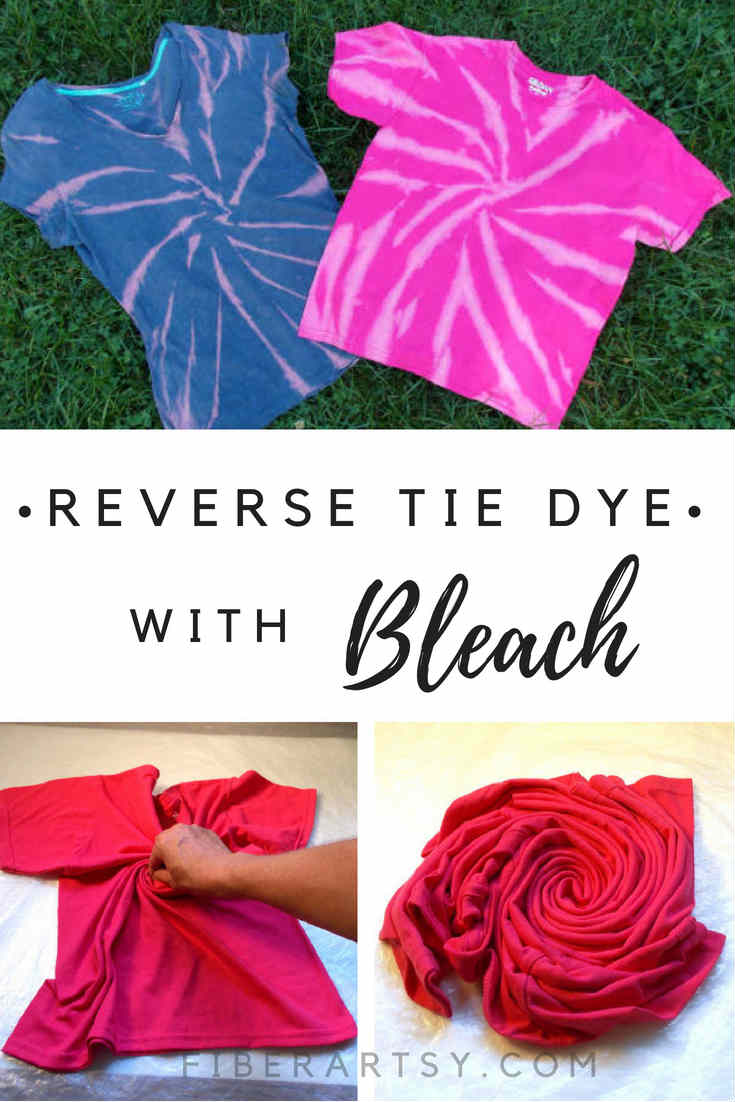 Reverse Tie Dyeing with Bleach. Learn how to remove color with this bleach tie dye technique. A great tie dye project for teens, too.