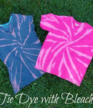 Tie Dye T Shirt with Bleach, Fiberartsy.com