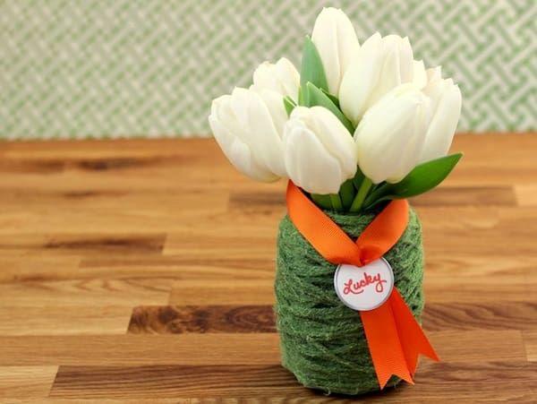 Yarn Wrapped Vase