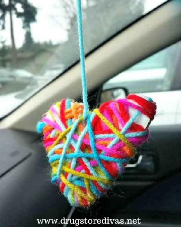 Heart made with Yarn