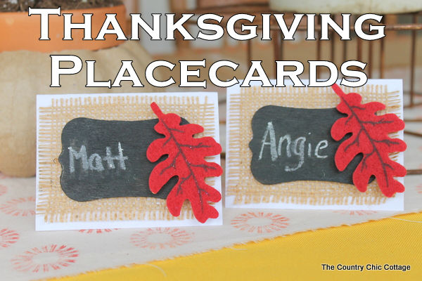 DIY Thanksgiving Table Placecards