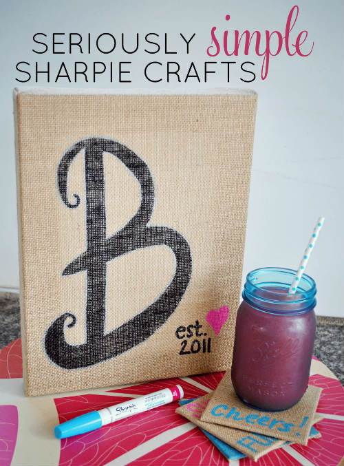 Sharpie and Burlap Craft Project
