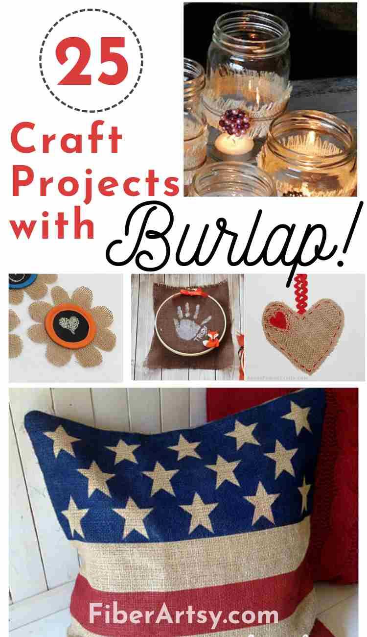25 Easy Burlap Fabric Craft Ideas