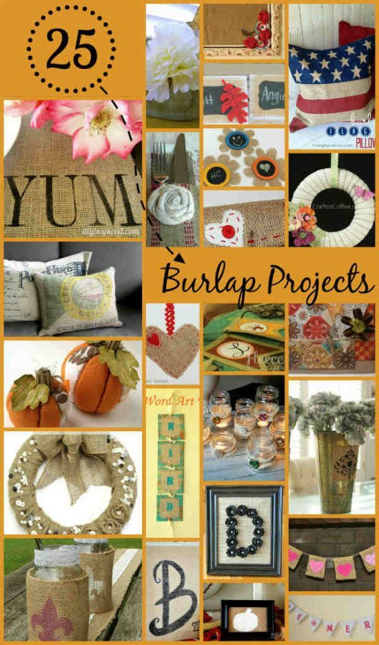 25 clever burlap diy projects for Clever diy projects
