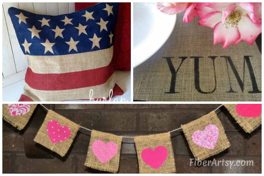 Fall Crafts with Burlap Fabric and Ribbon (1)