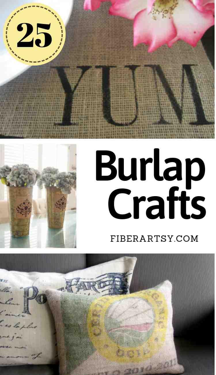 25 Burlap Crafts for Home Decor