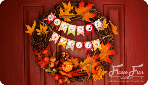 DIY Grapevine Wreath with leaves and pumpkins