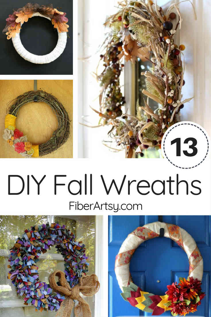 13 DIY Wreaths for Autumn. Learn how to make these beautiful Fall Wreaths for your own home.