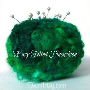 Easy Felted Pincushion How to, Fiberartsy.com