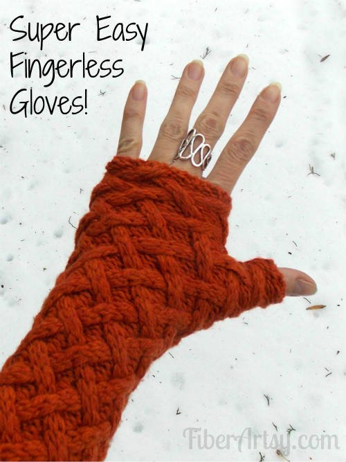 Easily sew fingerless gloves from a sweater