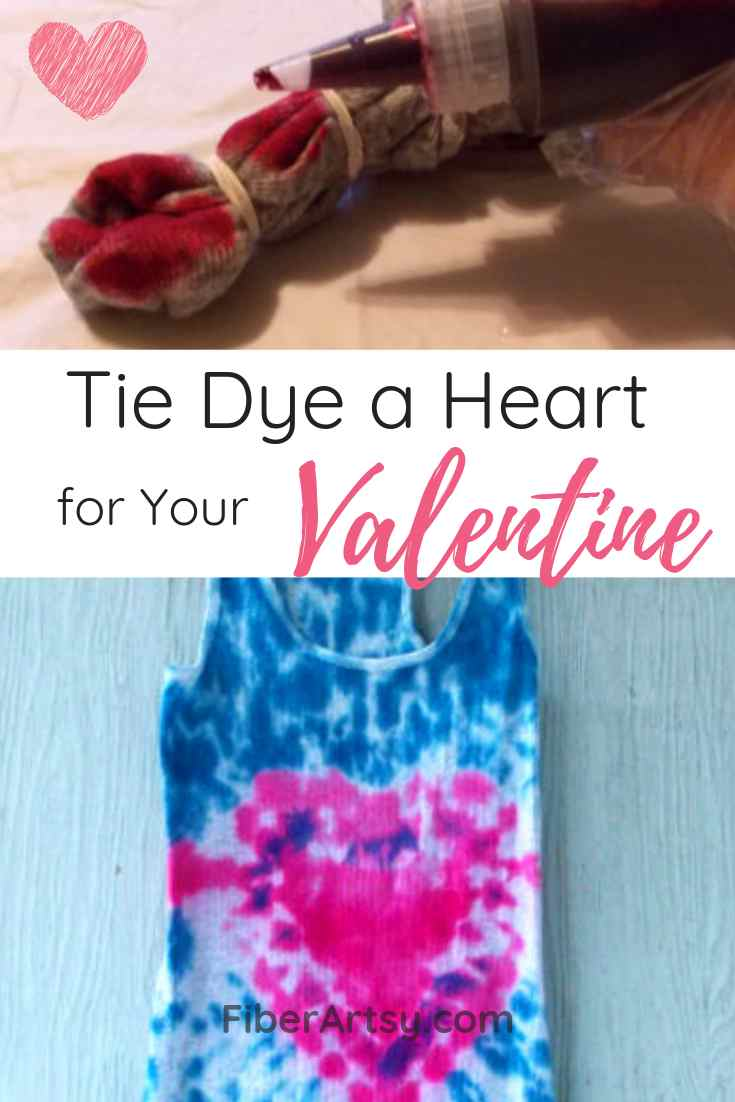 How to Tie Dye a Heart T Shirt for Your Valentine