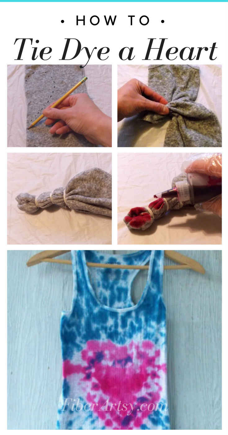 Learn how to Tie Dye a Heart