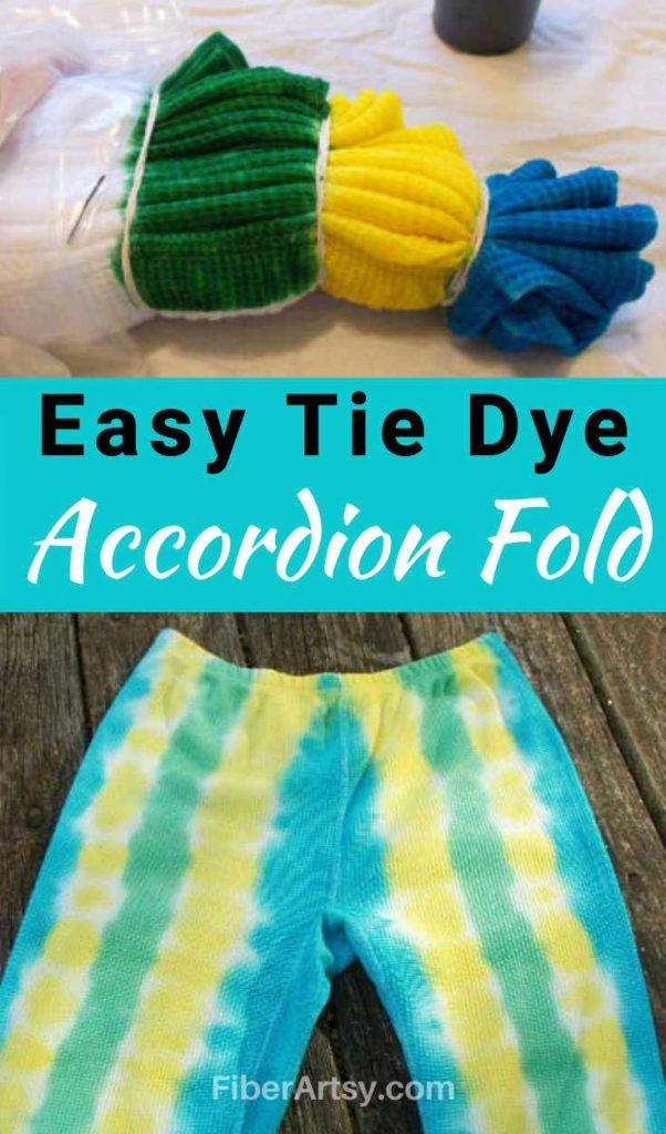 Tie Dye Methods Accordion Fold