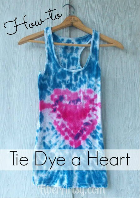 How to tie dye a heart for How to make tie dye shirts at home