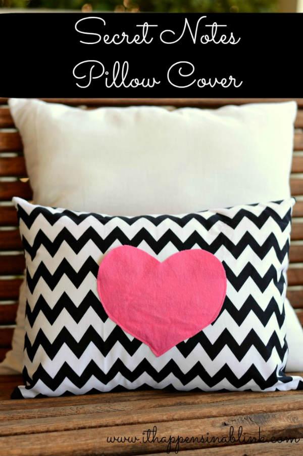 DIY Heart Pillow Valentines Craft Idea