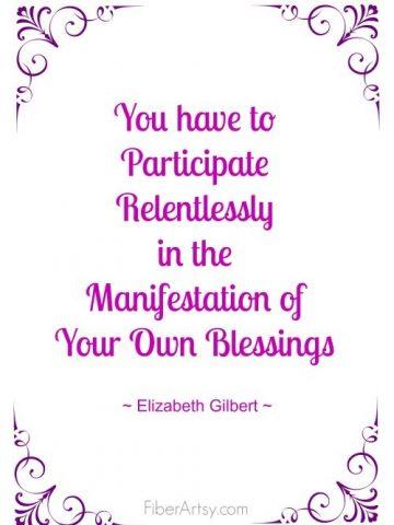 Inspiration Motivation, Fiberartsy.com