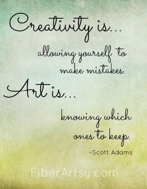 Motivational Quote, Fiberartsy.com