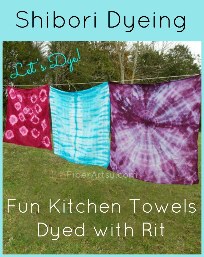 436b2abedd60 Shibori Dyeing Tea Towels with Rit