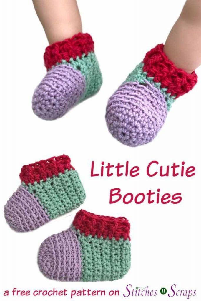 Booties Crochet Pattern for Babies