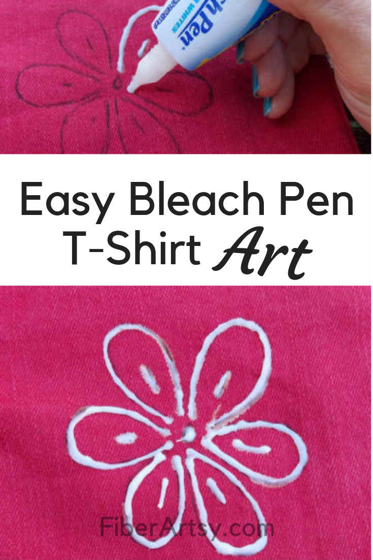 Easy Bleach Pen Art for Jeans and TShirts. A Fabric Dyeing and Painting Technique