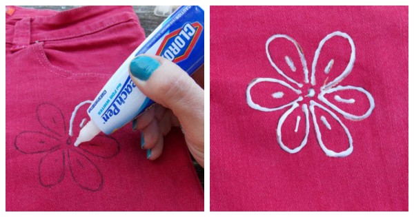 Decorate Shirts and Jeans with a Bleach Pen