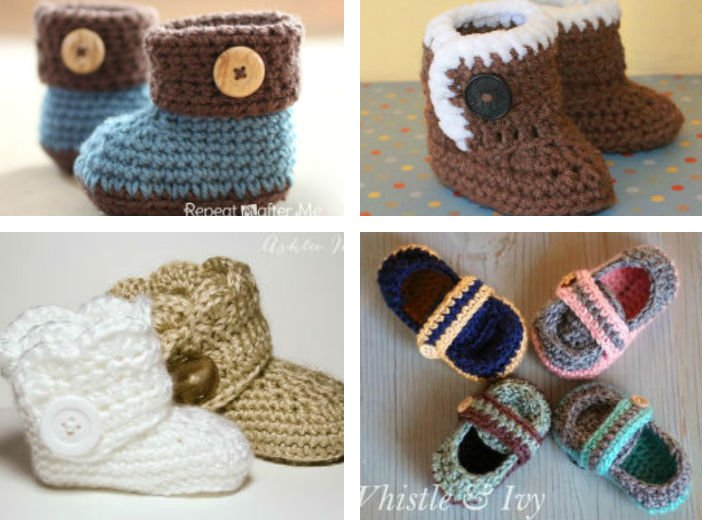 e397b00d47d 14 Free Crochet Patterns for Baby Booties - FiberArtsy.com