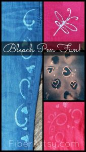 Decorate with Bleach Pen, Fiberartsy.com