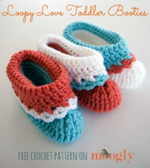 Free Crochet Pattern for Toddler Boot by Moogly