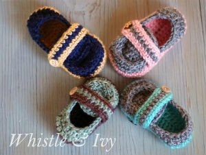 Strap Booties Baby Pattern for Crochet