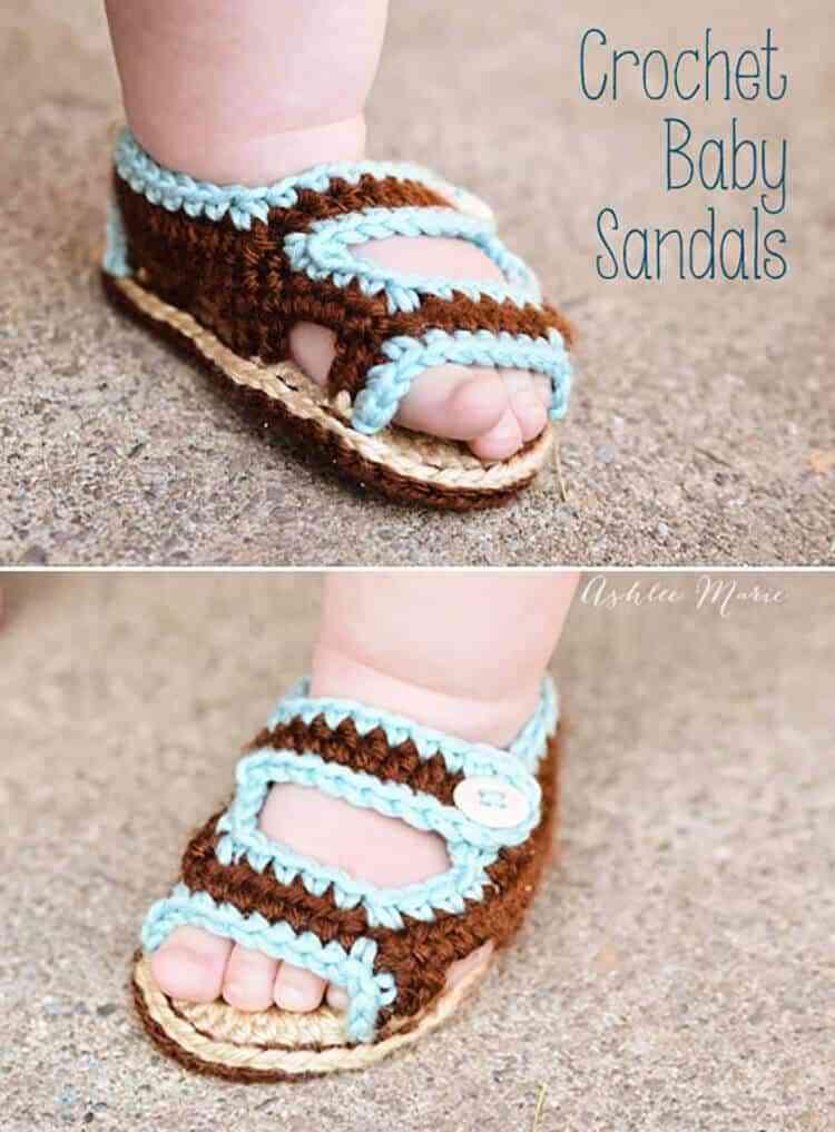 Crochet Sandals for Babies